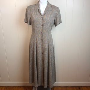 Vintage 80s/90s Liz Claiborne V Neck Grunge Dress